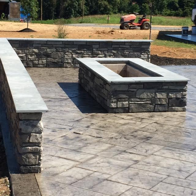 Rectangular Fire Pit Patio