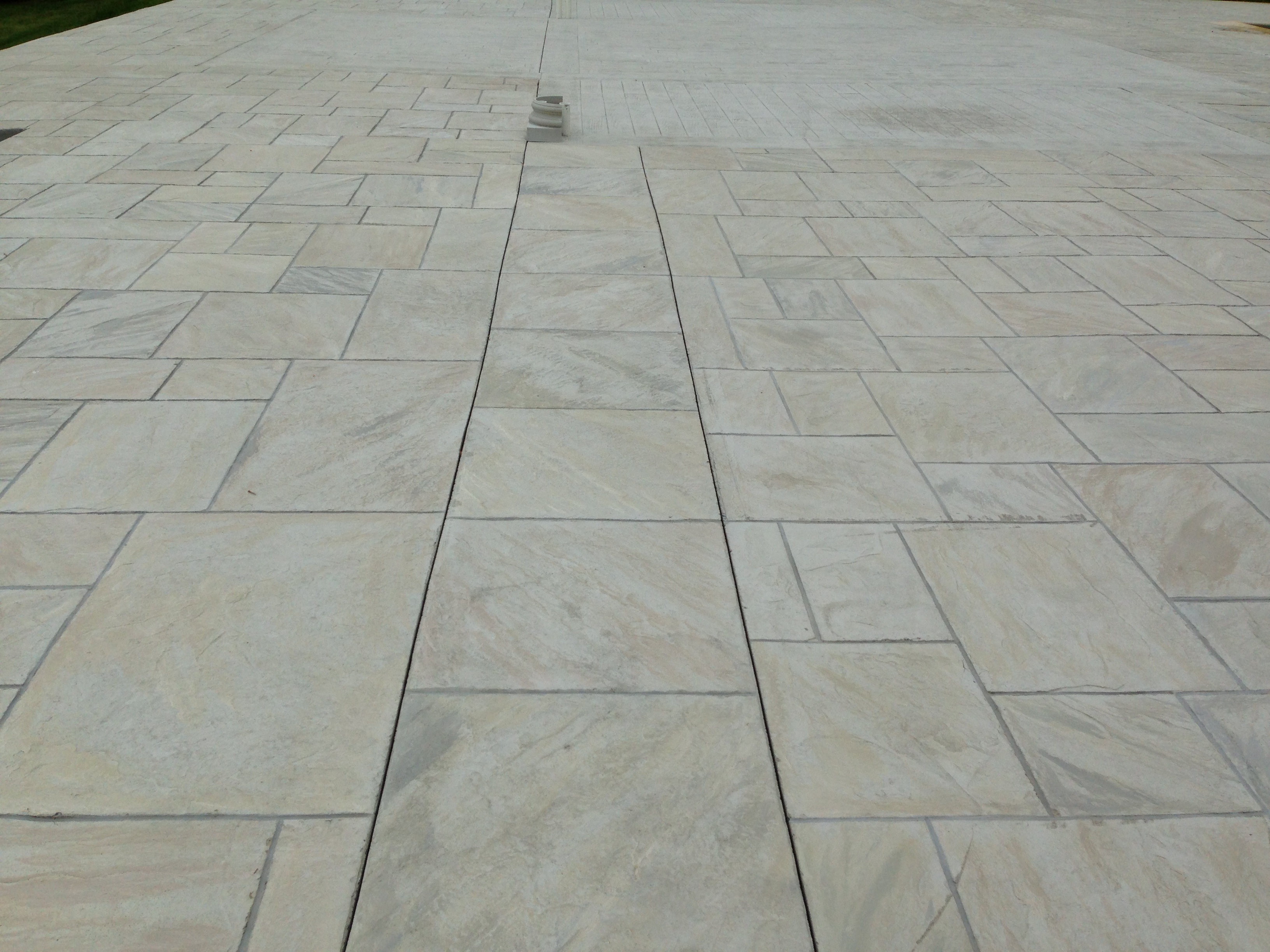 large slate with borders custom multiple colors stain per block